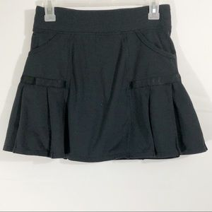 Athleta Black Skort Pleated Workout Skirt Size XS